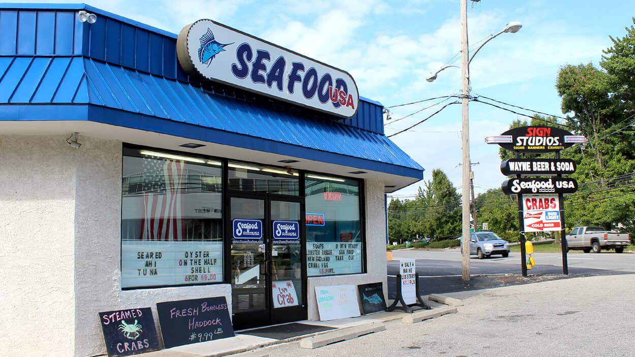 Exterior of Seafood USA