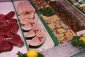raw fish at Seafood USA