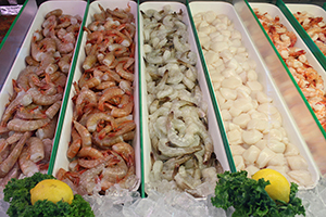 shrimps at Seafood USA